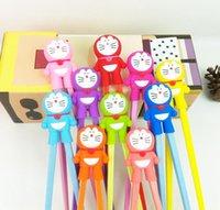Wholesale Dora Children - 2015 Hot New Arrival Super Cute Dora Chopsticks Cartoon Design Children Kid Baby Early Education Tableware Free Shipping