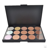 Wholesale Dark Shadows Makeup - DHL 1000 Sets Lady women 15 Color Makeup Eyeshadow Camouflage Facial Concealer Palette Eye Shadow Professional