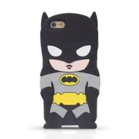 Wholesale Iphone G Cases - 3D Cartoon Batman Silicone Case For iPhone 6 6S Plus Samsung Galaxy S5 S6 Edge Note5 Grand Prime G530 J1 LG G Pro Lite D680 G3 Stylus D690