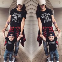 Familie Shirt Papa Mom Kind Baby T-Shirt Tops Strampler Outfits Passende Kleidung Neue Familie Passende Outfits