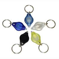 Discount micro led keychain - White & UV LED Keychain Light Mini LED Flashlight Keychains Car Key Accessories 2 Micro Light LED Keychain Flashlight Mini Light Colors