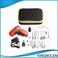 Wholesale Brockhage Picks - New KLOM Cordless Electric Lock Pick Gun Auto Pick Guns Lockpicking Locksmith Tools Brockhage Pick Gun DHL Free Shipping