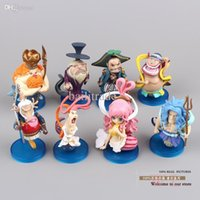 Al por mayor-anime de figuras de PVC Figuras de acción de una pieza Fishman Island Princess Shirahoshi Mini Collection Modelo Juguetes Muñecas 8pcs / set