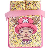 Wholesale boys full size bedding for sale - Cartoon One Piece D pink full queen king size cartoon bedding sets single double white boys quilts duvet cover set pillowcase