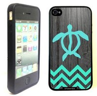 Wholesale Iphone 4s Turtle Cases - Wholesale Cute Ancient Turtle River Design Hard Plastic Mobile Phone Case Cover For iPhone 4 4S 5 5S 5C