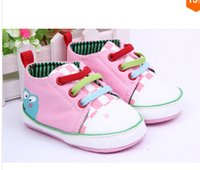Wholesale Canvas Frog Baby Shoes - Hot Saling Baby Shoes Kids Cotton First Walkers Baby toddler shoes, soft bottom frog prince design 6pair