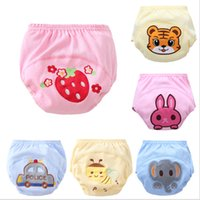 Wholesale Baby Learning Pants - Cute Baby Kids Learning Shorts Training Pants Cartoon Embroidery Car Patterns Waterproof Cotton Diapers Nappy Toddler Underwear Wholesale
