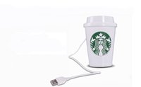 Wholesale Mini Usb Cup Air Purifier - USB Portable ABS Starbucks Cup Mini Humidifier Purifier DC 5V Office Home Air Diffuser Aroma Mist Maker 10pcs Lot