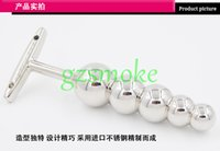 Wholesale Silver Anal Plugs - Anal Butt Plugs Unisex Anal Toys Steel Metal Anal Butt Plugs Silver Anal Beads Sex Products Anal 2014 Newest Anal Sex Anal 5 Ball Best Gifts