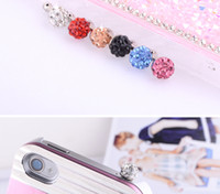 Wholesale Dust Stoppers Phones - New 3.5mm Diamond Sparking Design Anti Dust Stopper Plug Dustproof Earphone Jack Ear Cap for iPhone 3g 4g 4s iPad Samsung HTC Mobile Phone