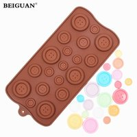 Wholesale Fondant Button - Wholesale- Button Shape Silicone Mold For Fondant Cake Chocolate Decorating Candy Pastry Mould