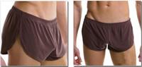Wholesale-Smooth pajama sports Arrow Home casual short pants Mens Dream Split Shorts Smooth Slacks Gray Black Brown