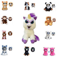 Wholesale Toy Dolls For Girls - Feisty Pets PlushToys Funny Expression Stuffed Animal Unicorn Horse Panda Animals Toys Doll for Girls Christmas Gift KKA3504
