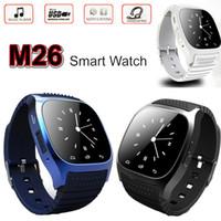 m26 akıllı toptan satış-Akıllı İzle M26 Bluetooth Smartwatch LED Ekran Spor Bilek Saatler Pedometre Alitmeter Snyc iOS Android Smartphone için U8