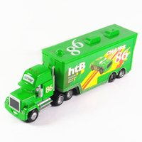 Wholesale Cars Toys 86 Truck - Pixar Cars 2 100% original mack truck green no.86 Hicks 1:55 scale die-cast metal alloy model toy free shipping children's gifts