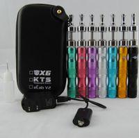 kit de iniciação vaporizador x6 venda por atacado-X6 vape Starter Kits com ecigs eGo 1300 mAh Variável Voltage Battery mod com Protank 2 Clearomizer Atomizador canetas tanques Vaporizador Case kit