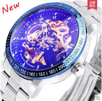 Wholesale Mechanical Dragon Model - 2015 explosion models double-sided hollow automatic mechanical watches, dragon through the end of the male form, user-friendly design!good!