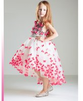 Wholesale Lovly Girl - Beautiful Ball Gown Girls Dress with Butterfly flowers and beading sash for Lovly Princess Girls Pageant dress