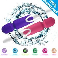 Wholesale waterproof vibrating plug online - iWand Magic Wand Massager Modes Rechargeable AV Vibrator Vibrating Waterproof Full Body Massager US Plugs by DHL