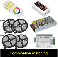 4 * 5M 5050 RGB LED Light Strip 60 LED / m Led Tape + Telecomando wireless Touch + 24A Amplificatore + DC 12V 20A Alimentazione