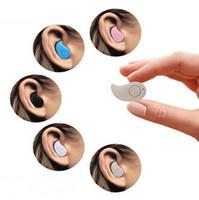 mais pequenos fones de ouvido bluetooth venda por atacado-S530 mini sem fio bluetooth fone de ouvido estéreo de luz discrição fone de ouvido fone de ouvido intra-auriculares com microfone ultra-pequeno oculto universal para iphone samsung
