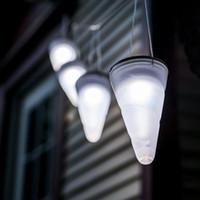 ingrosso lampada solare ad alta potenza-Alta qualità Brand New Solar Power lampada da giardino Cornet Cono LED Lampade Hanging Lanterna Lanterna da campeggio esterna luce