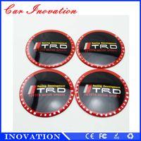 Wholesale Carbon Motorcycle Wheels - Motorcycle Car Carbon Fiber Sticker Reflective Wheel Hub Tire Rims Wheel Cover Sticker