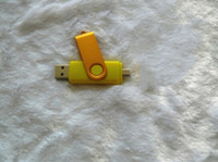 Wholesale Swivel Usb Logo 32gb - DHL Swivel Memory Stick Flash OTG Drive Storage USB 2.0 Silver YG 3 Custom LOGO Blister Packaging 32GB 64GB Metal Plastic 60pcs