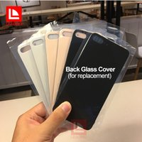 "Wholesale Parts For Iphone Back - High Quality Glass Back Cover For iPhone 8 8plus 4.7 inch 5.5"" White Black Gold Replacement Repair Part Free Shipping"