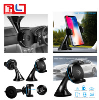 Wholesale universal phone dash mount - Car Dash window mount with Car Wireless Charger for phone support Qi wireless charge for Iphone X Samsung S8 Free DHL Shipping