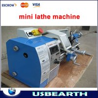 Wholesale Small Lathe Machines - Free shipping Small household stepless variable speed 600w  210*400mm horizontal mini lathe machine