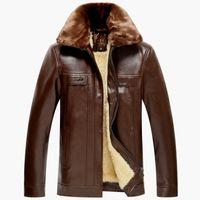 Wholesale Genuine Suede Jacket - Fall-mens leather jackets and coats 5xl mens suede jackets and coats genuine sheep skin leather winter jacket men fur collar