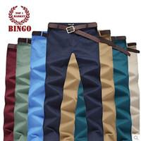 Wholesale Chino Trousers - Bingo free shipping 2015 new Casual Chino Khaki Men Pants, Trousers, Casual Fashion Clothing Calca Social Masculina BG-F9400