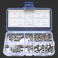Wholesale Stainless Steel Hex - Stainless Steel Self-Locking Hex Nuts Nylon Locknuts M2 M2.5 M3 M4 M5 M6 Kit