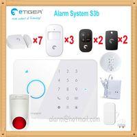 Wholesale Sensor Gas Leakage - Etiger S3 home security system gsm with smoke detector gas leakage detector water flood alarm sensor