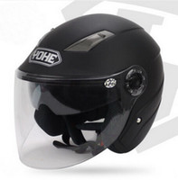 casco de doble cara de doble lente al por mayor-YOHE doble lente casco de motocicleta de media cara casco Eternal bicicleta eléctrica casco de moto YH837A TALLA M L XL XXL 7 colores