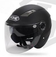 Wholesale Size S Half Helmet - YOHE dual lens winter half face motorcycle helmet Eternal electric bicycle helmet motorbike helmet YH837A SIZE M L XL XXL 7 colors