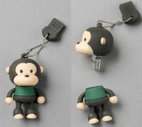Wholesale 16gb Usb Drive Cute - 2015 New arrival USB stick 16GB 32GB 64GB cartoon cute monkey USB 2.0 Flash Memory PenDrive Thumbdrives usb flash drive from goodmemory