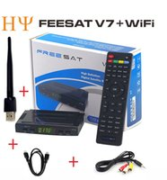 Freesat V7 3pcs HD спутниковый ресивер Полный 1080P + 3PC USB WiFi DVB-S2 HD Поддержка Cam powervu youpron set top box power vu