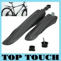 Wholesale Tyre Guard - Free Shipping Mountain Bike Bicycle Road Tyre Tire Front Rear Mudguard Fender Set Mud Guard With Set of Installation Gadgets A5