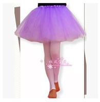Wholesale Tutus Girls Night - 12Colors Dance Tutu Dress Adult Girls Career Tutu Christmas Night Party Ballet Dancing Dresses Mini Skirt Pettiskirt Free Ship