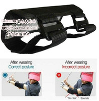 Wholesale golf training aids - Wholesale-Free Shipping Wholesale Golf Practice Tool Elbow Arm Band Braces Swing Gesture Alignment Training Aid