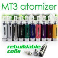 bcc spulen großhandel-MT3 Zerstäuber 2.4ml eVod BCC MT3 elektronische Zigarette wieder aufbaubare untere Spule Clearomizer Tank für EGO EVOD Batterie E Zigarette DHL frei