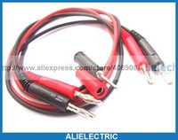 Wholesale Probe Jack - 2 Set Banana Plug Test Cable 4mm Banana Jack Test Probe to 2mm Pin Tip