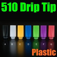 Colorful Flat 510 Drip Tips pour E cigs Plastic Solid Colors Mouthpiece Fit Cloupor Taotie Airek Atomizer Hot Sale FJ636