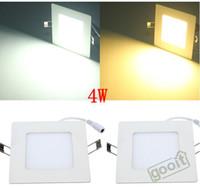 plafonnier led panneau achat en gros de-La lumière ultra-mince de panneau de 4W LED place 20pcs SMD2835 320LM LED lampe de mur de plafond a enfoncé l'ampoule menée 85-265V, dandys