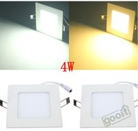 Wholesale Surface Wall Panels - Ultrathin 4W LED Panel Light Square 20pcs SMD2835 320LM LED Ceiling Wall Light Lamp Recessed Down led bulb 85-265V, dandys