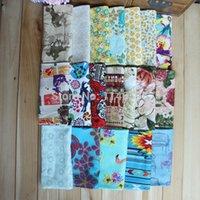Wholesale Wholesale Clothes Bundles - FREE SHIPPING mix 7piece lot 50x50cm cotton cloth fabric poplin fabric fat quarter bundle clothes bedding sewing cloth patchwork