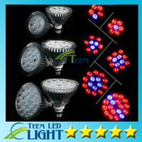 par38 ışık arttırır toptan satış-Tam Spektrum LED Büyümek Işık 15 W 21 W 27 W 36 W 45 W 54 W 54 W E27 Lamba Büyümek PAR38 PAR30 Ampul Çiçek Bitki Topraksız Sistemi ışıkları 10