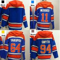 Wholesale Ryan Smyth Jersey - 2016 New, edmonton hoodie 11 Mark Messier 64 Nail Yakupov 94 Ryan Smyth #blank Old Time Ice Hockey Jersey Hoodies Sweatshirts